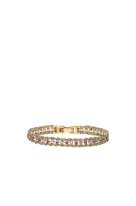 Vanessa Mooney The Frenzy Bracelet in Pink & Crystal