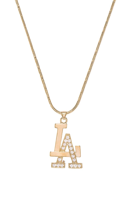 VANESSA MOONEY The La Necklace in Metallic Gold