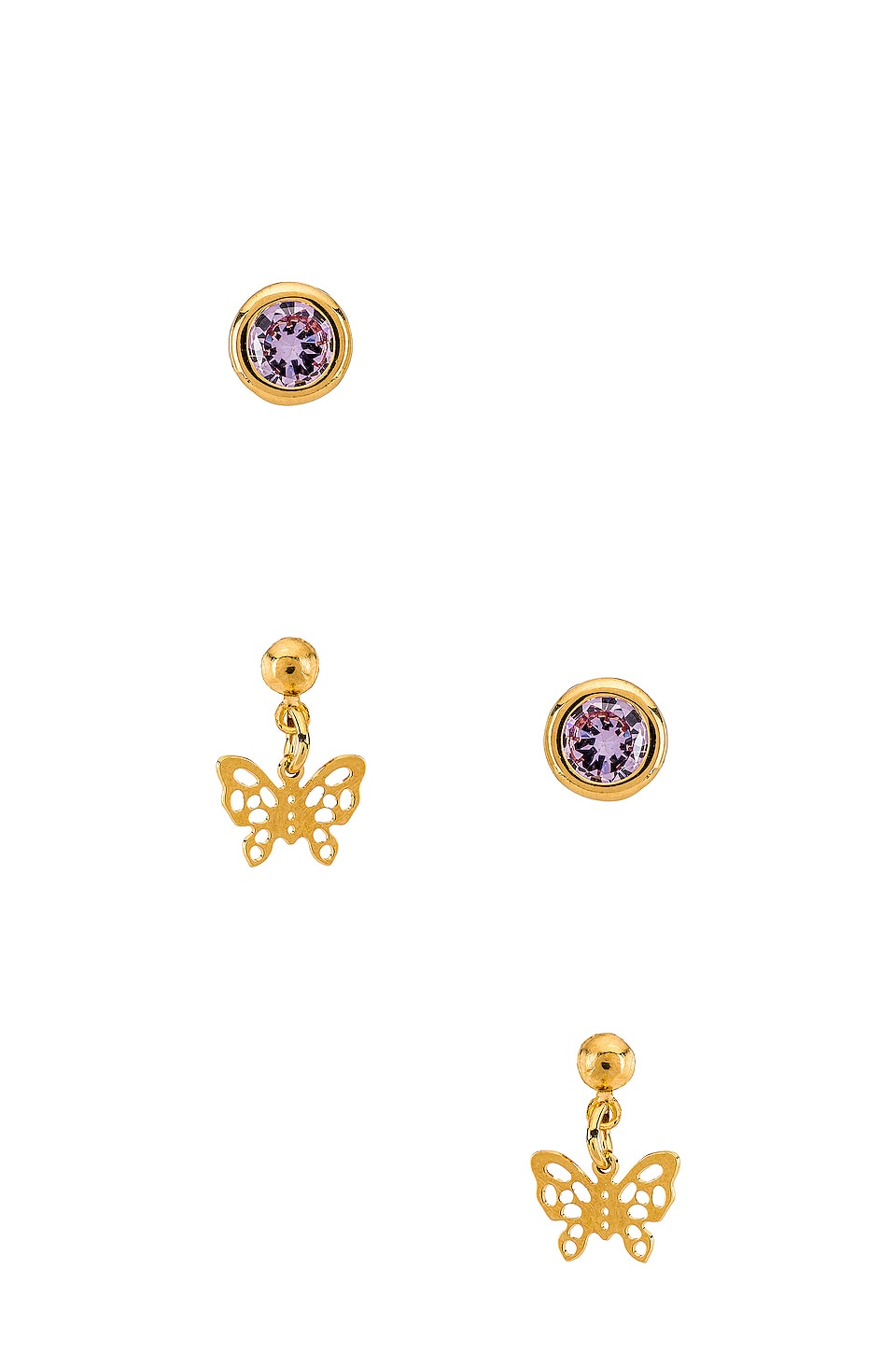 Vanessa Mooney X REVOLVE The Celtic Earring Set in Gold & Lavender