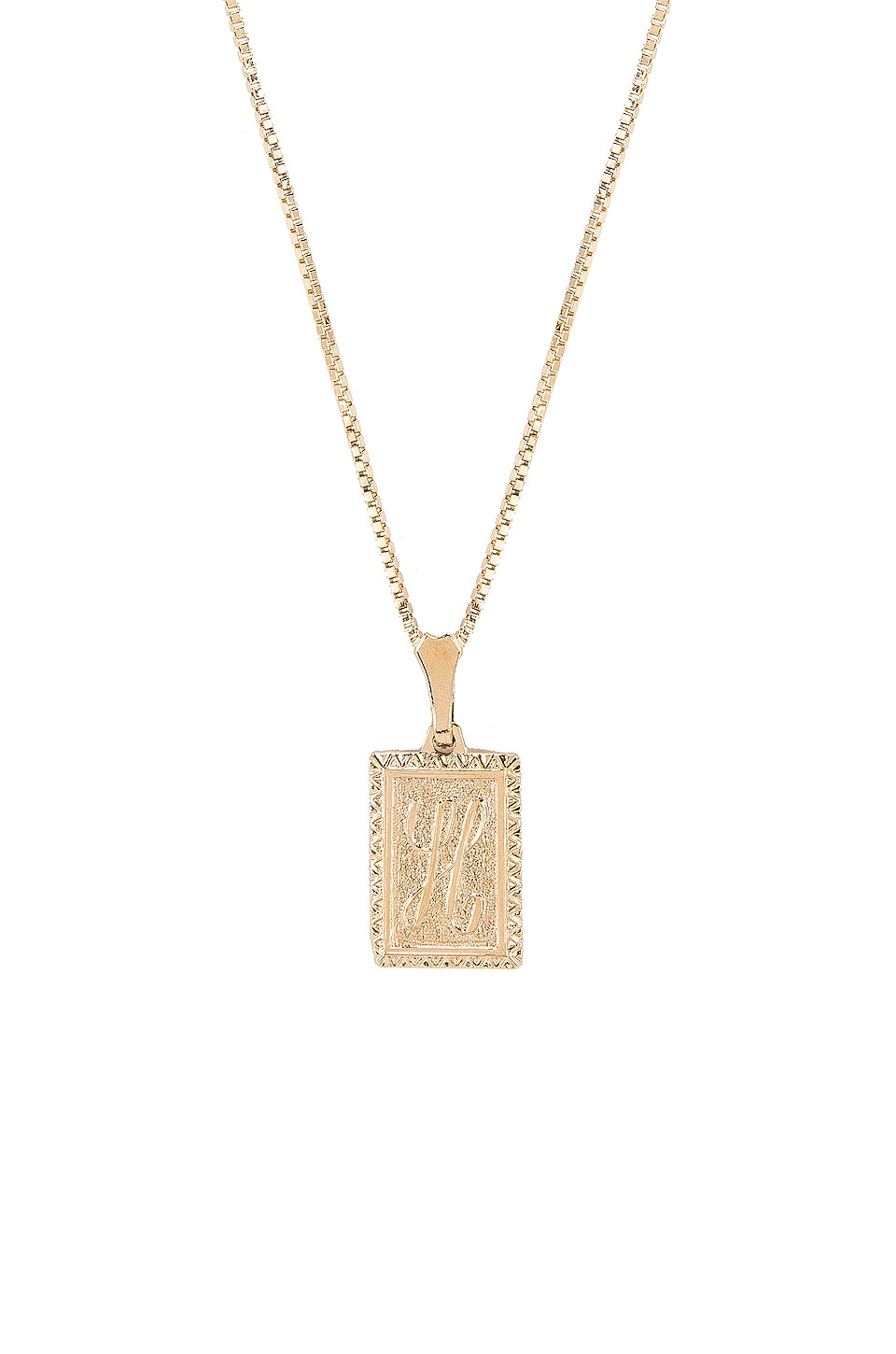 Vanessa Mooney The London H Initial Necklace in Gold