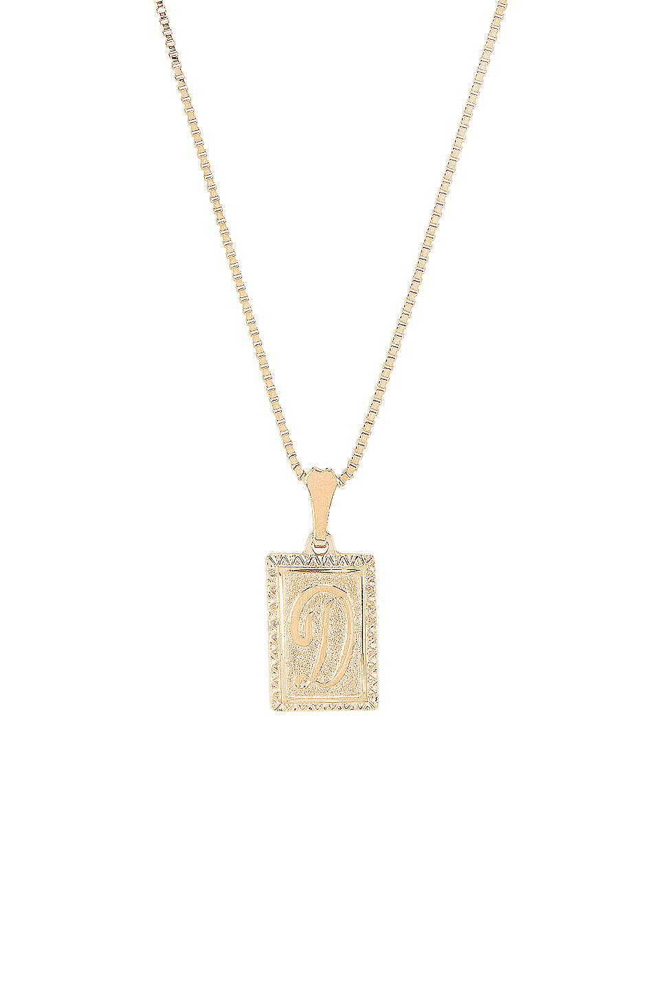 Vanessa Mooney The London D Initial Necklace in Gold