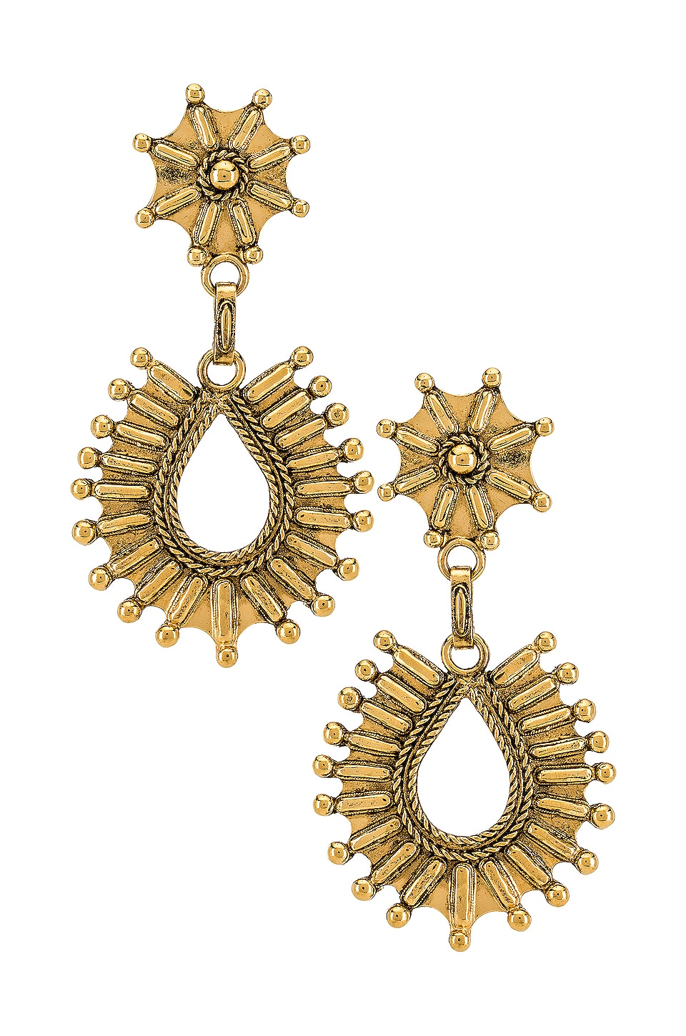 Vanessa Mooney The Drifter Earrings in Gold