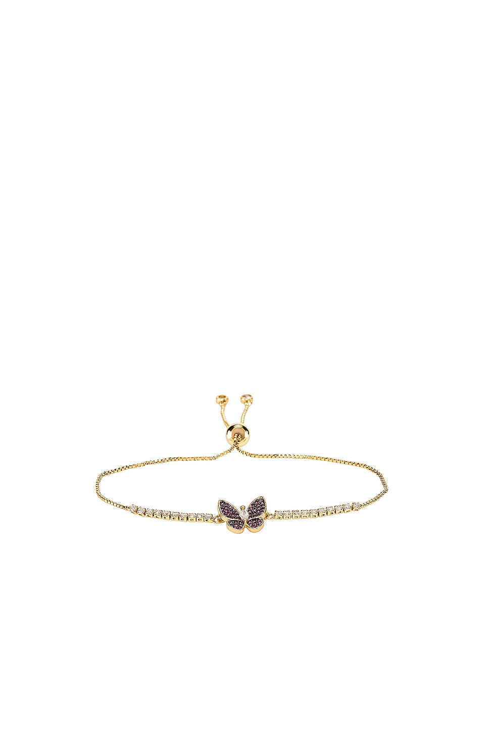 Vanessa Mooney The Monarch Bracelet in Gold & Red