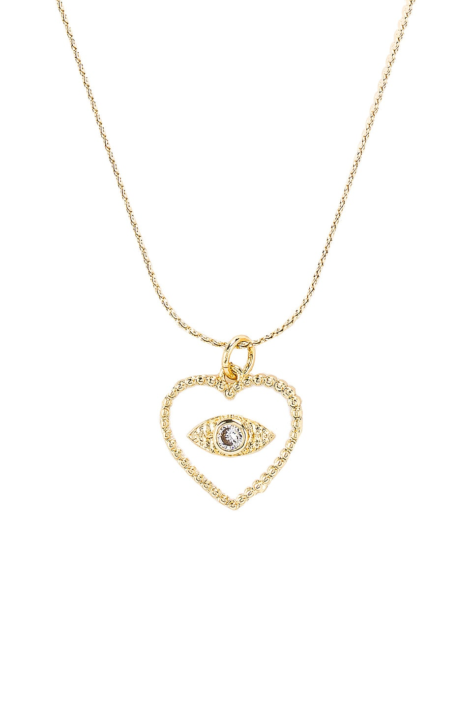 Vanessa Mooney The Wandering Eye Necklace in Gold & White
