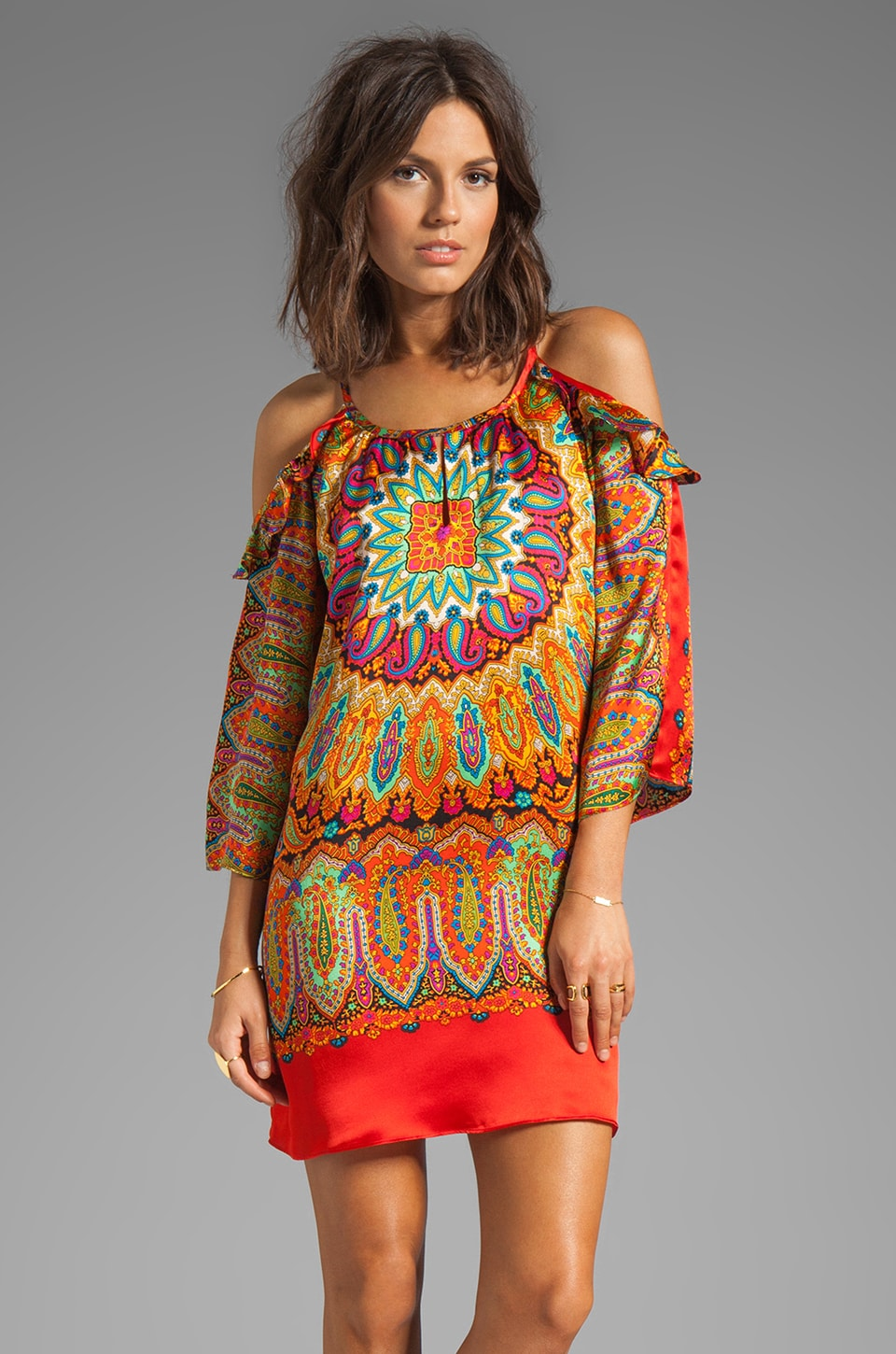 VOOM by Joy Han Zoey 3/4 Sleeve Dress in Multi