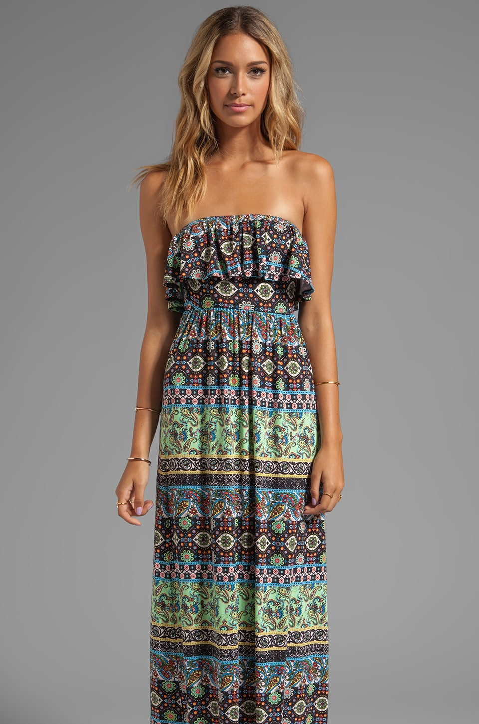 VOOM by Joy Han Eliza Long Dress in Multi