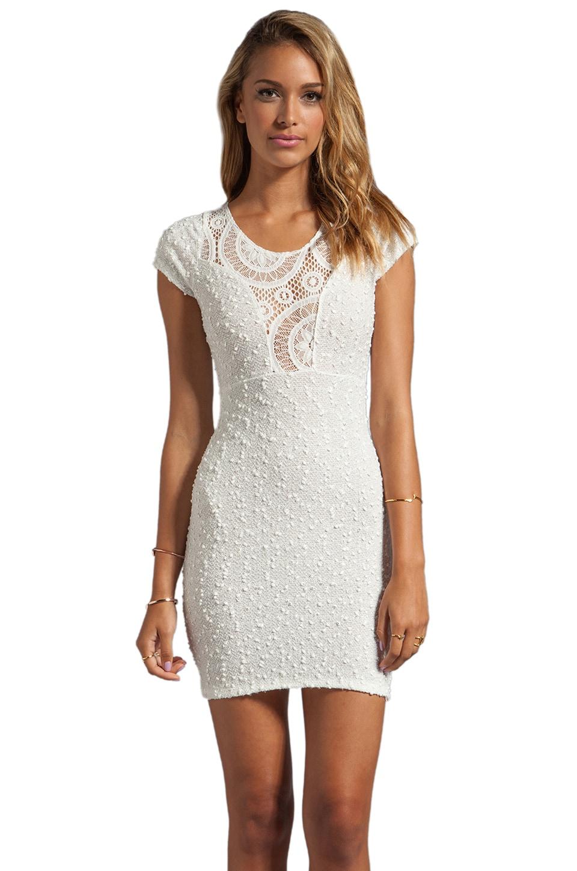 VOOM by Joy Han Penelope Short Sleeve Dress in White