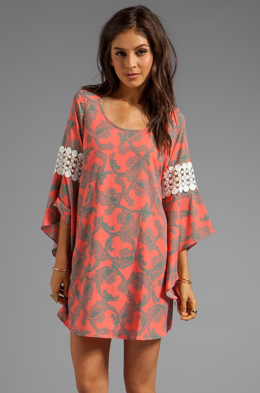 VOOM by Joy Han Kendyll Bell Sleeve Dress in Coral
