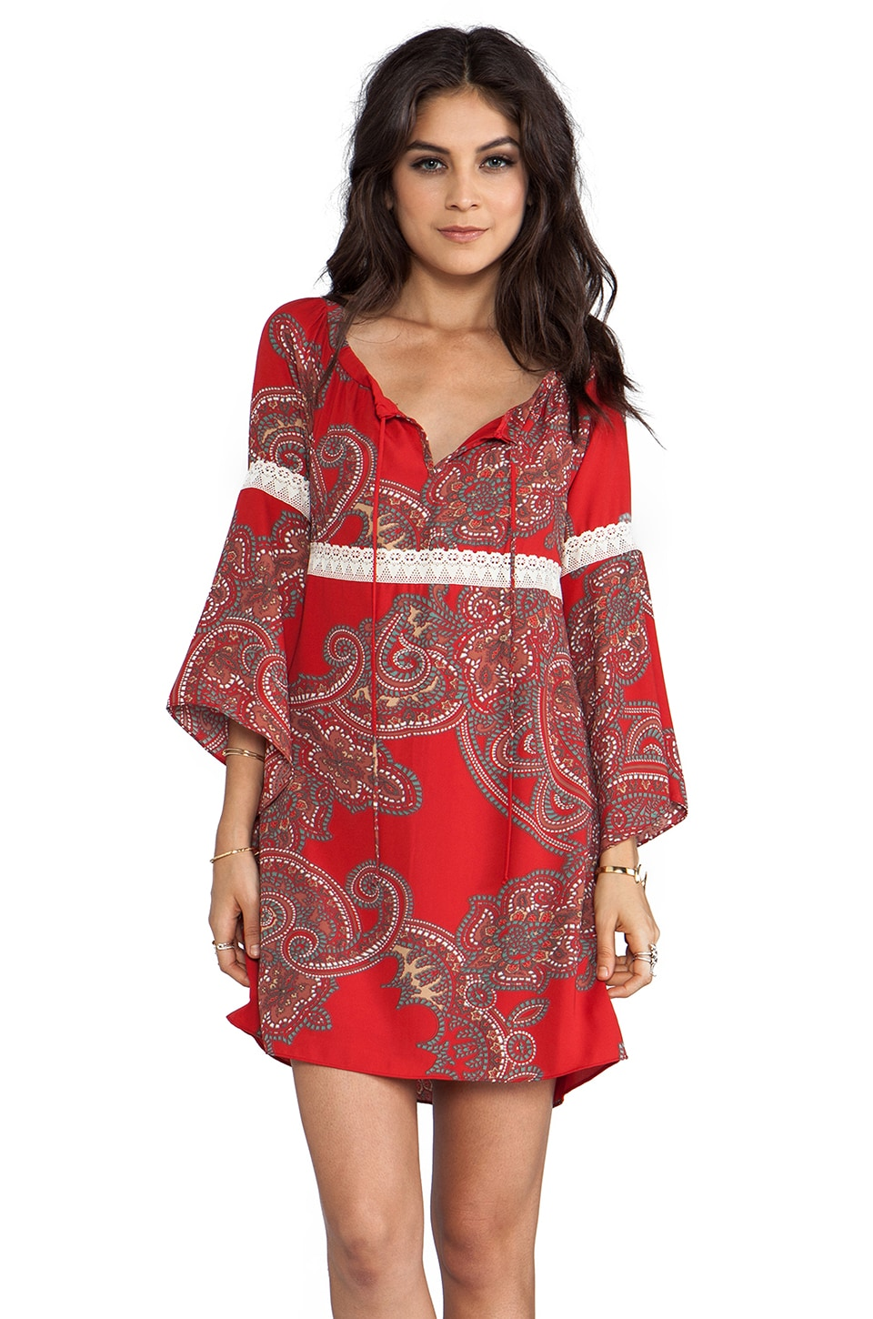 VOOM by Joy Han Tricia Dress en Rouge