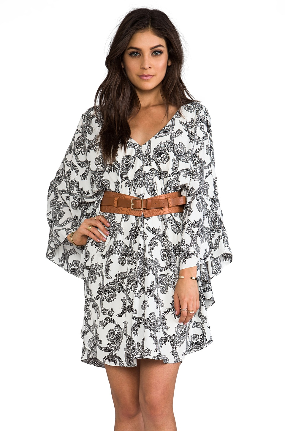 VOOM by Joy Han Kendyll Kimono Dress in White