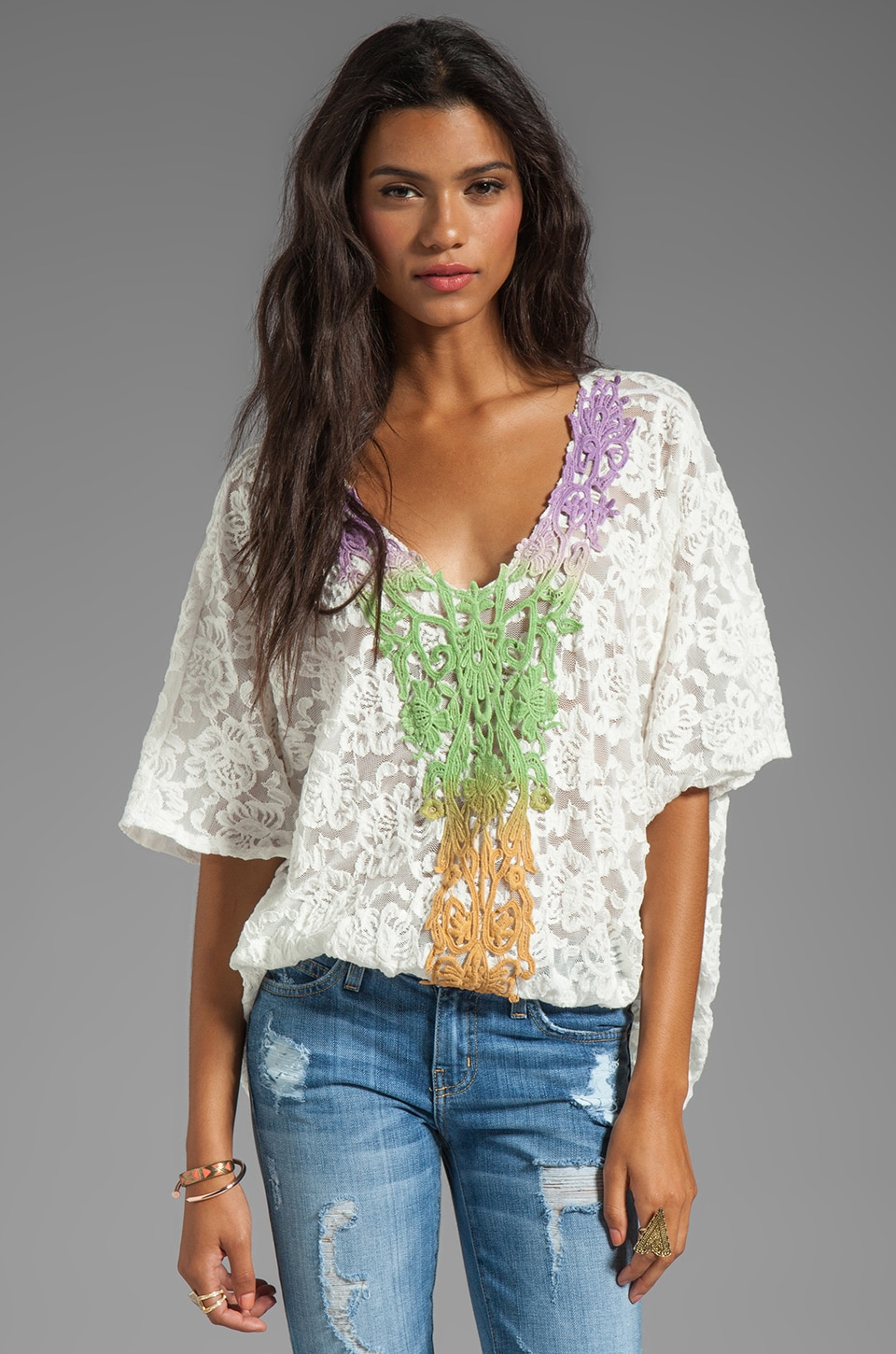 VOOM by Joy Han Kylie Kimono Top in White
