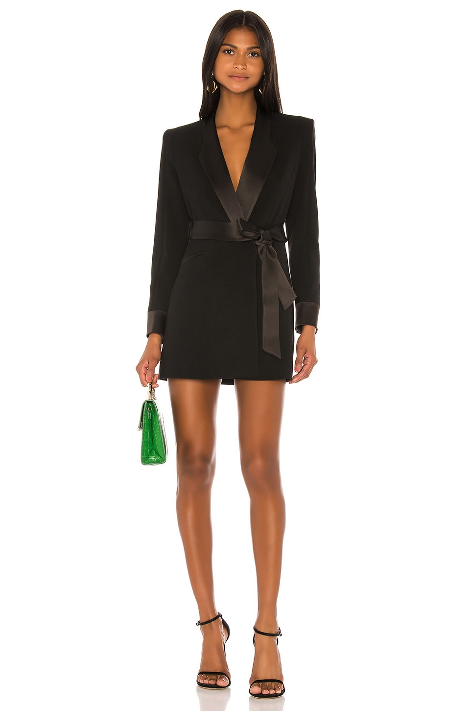 VALENTINA SHAH Carlotta Blazer Dress in Black