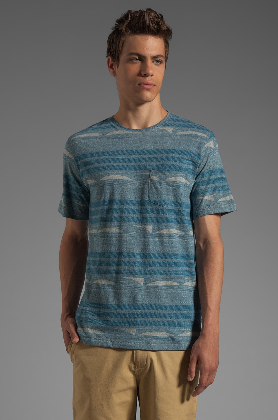 V.S.T.R Horizon Tee in Ensign Blue