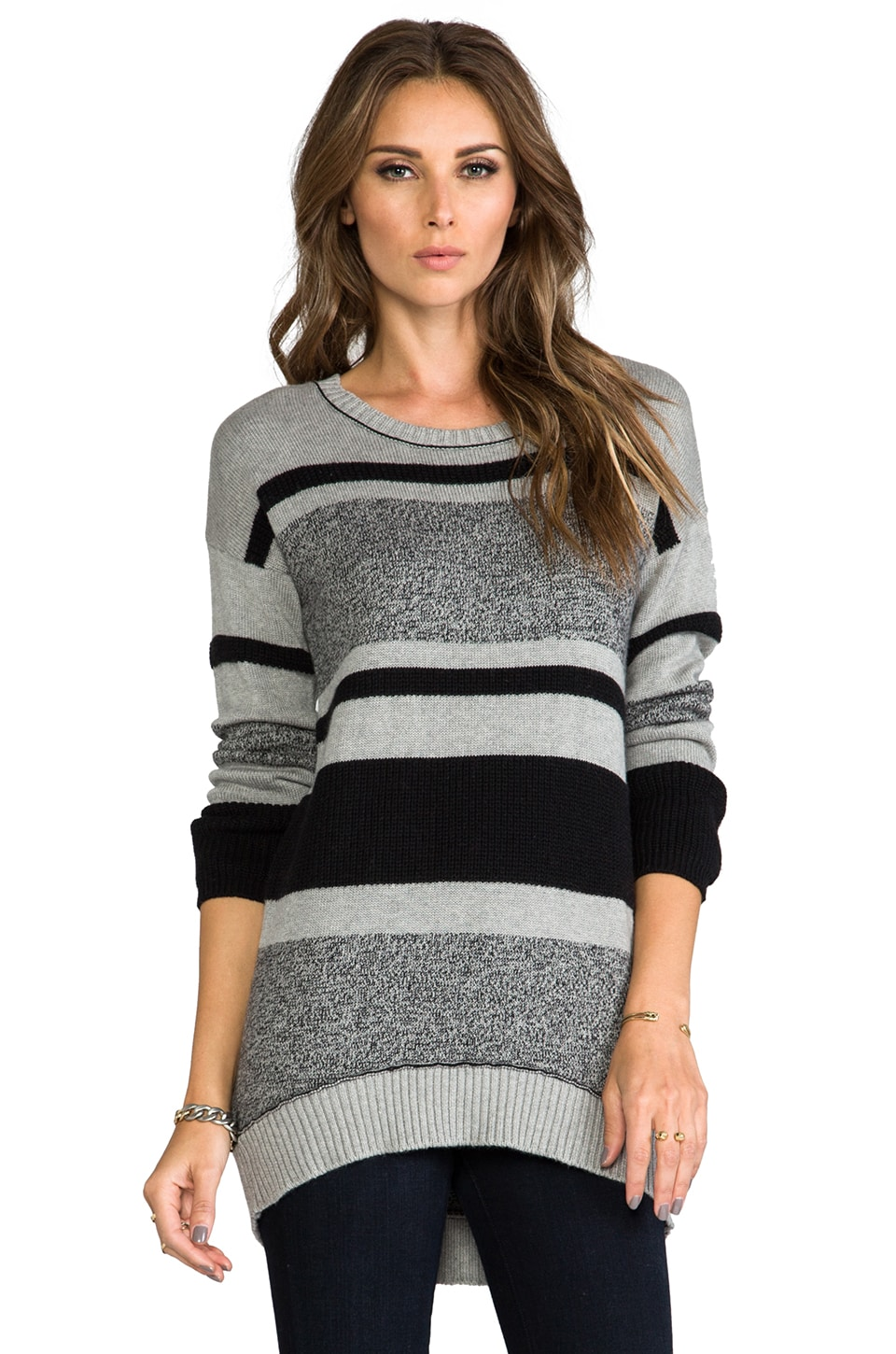 Vintageous Unites Stripe Sweater in Mineral/Black