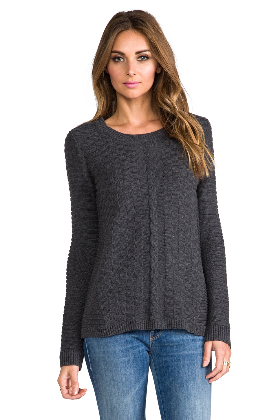 Vintageous Attitude Sweater in Charcoal