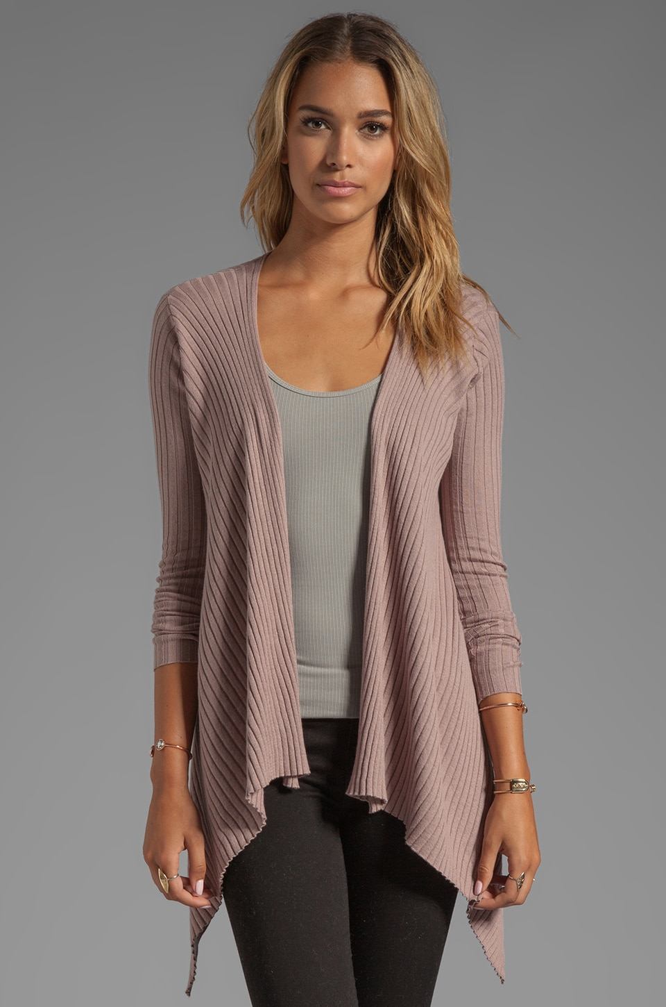 Vintageous Luxe Wrap Cardi in Lilac