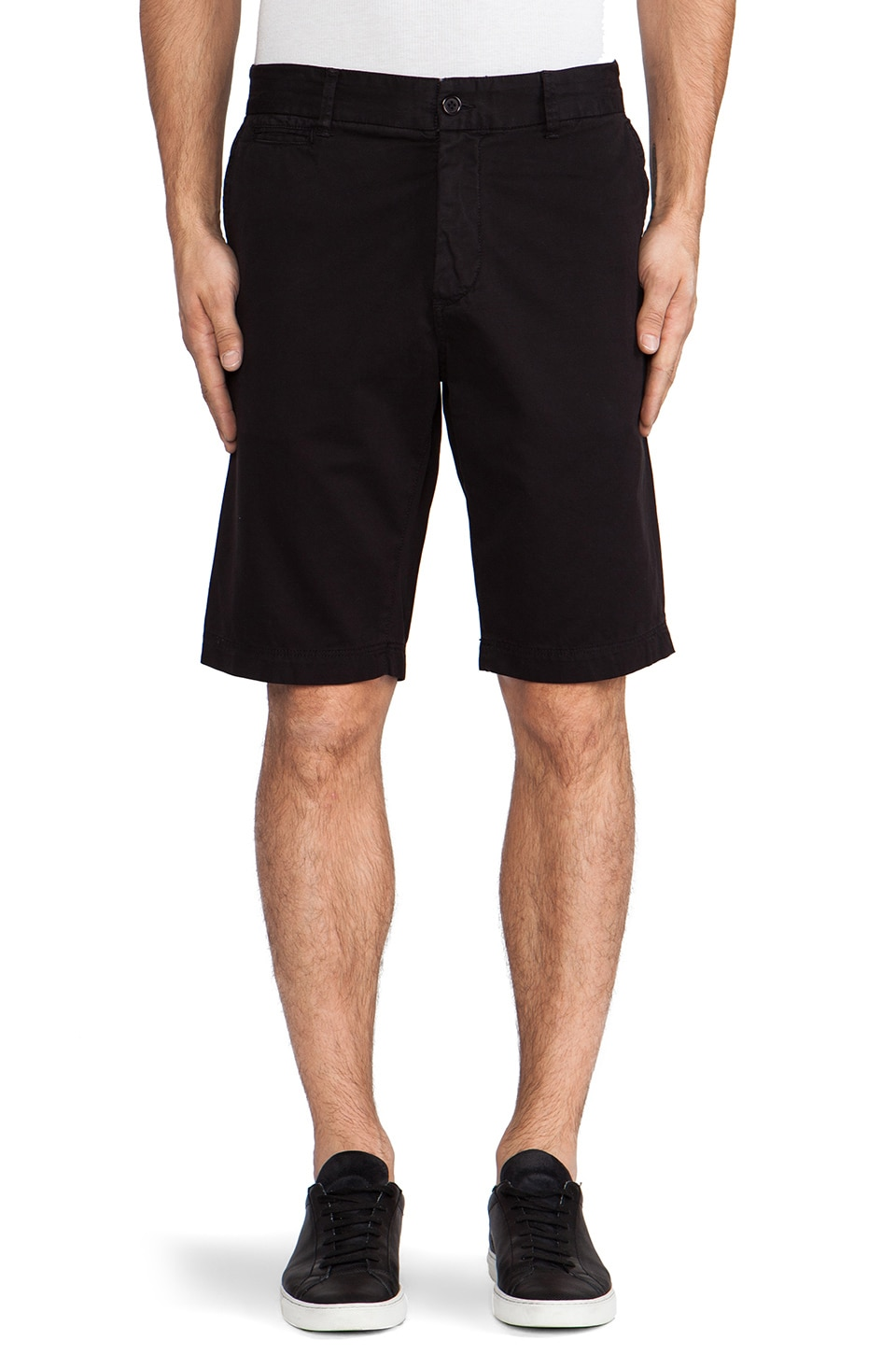 Velvet by Graham & Spencer Ambrose Twill Short in Black