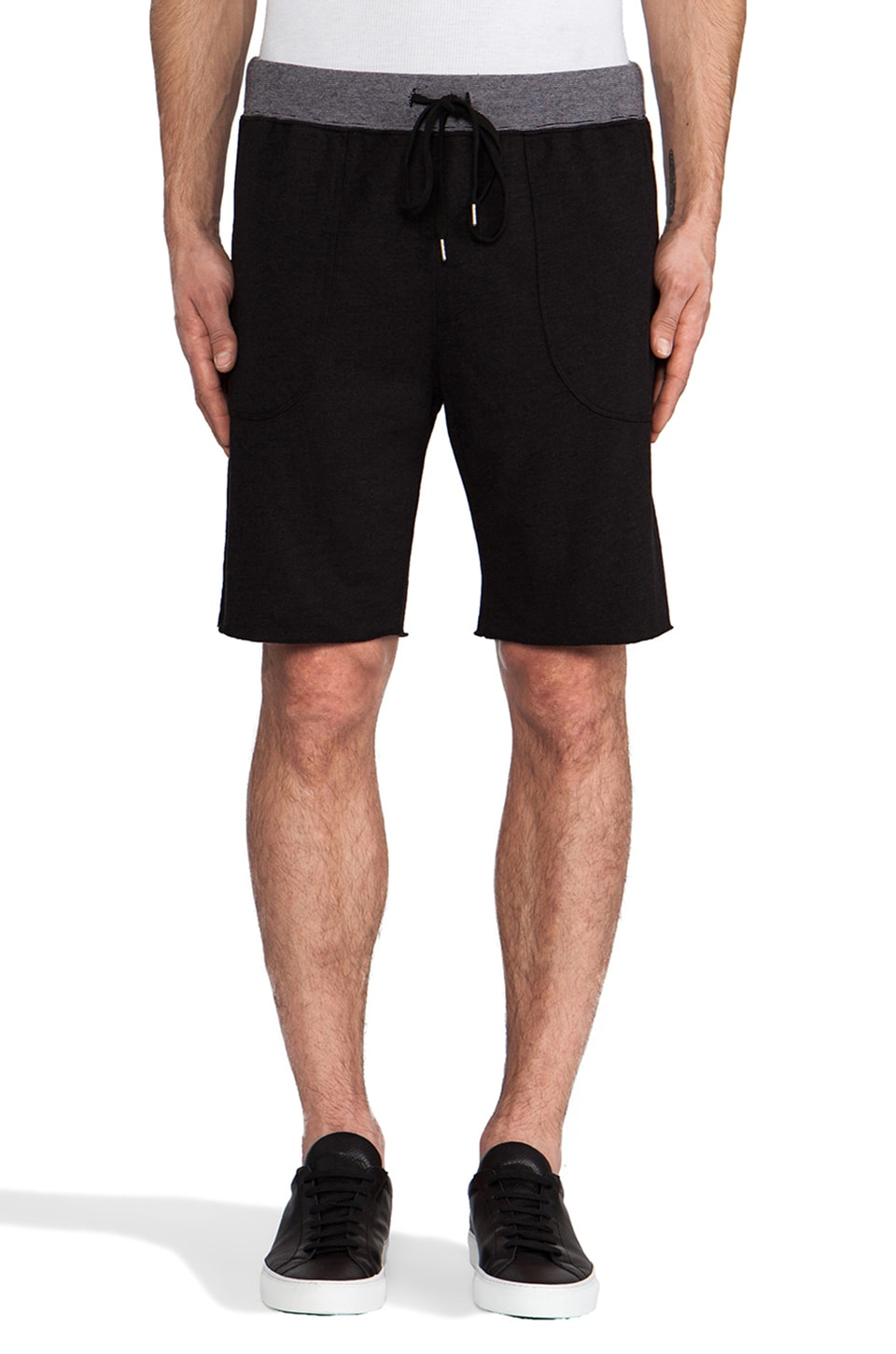 Velvet by Graham & Spencer Joe Sweatshort in Black