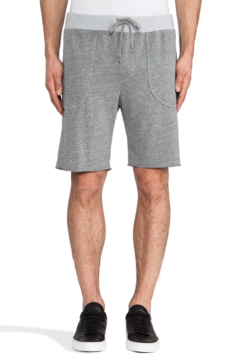 Velvet by Graham & Spencer Joe Sweatshort in Heather Grey