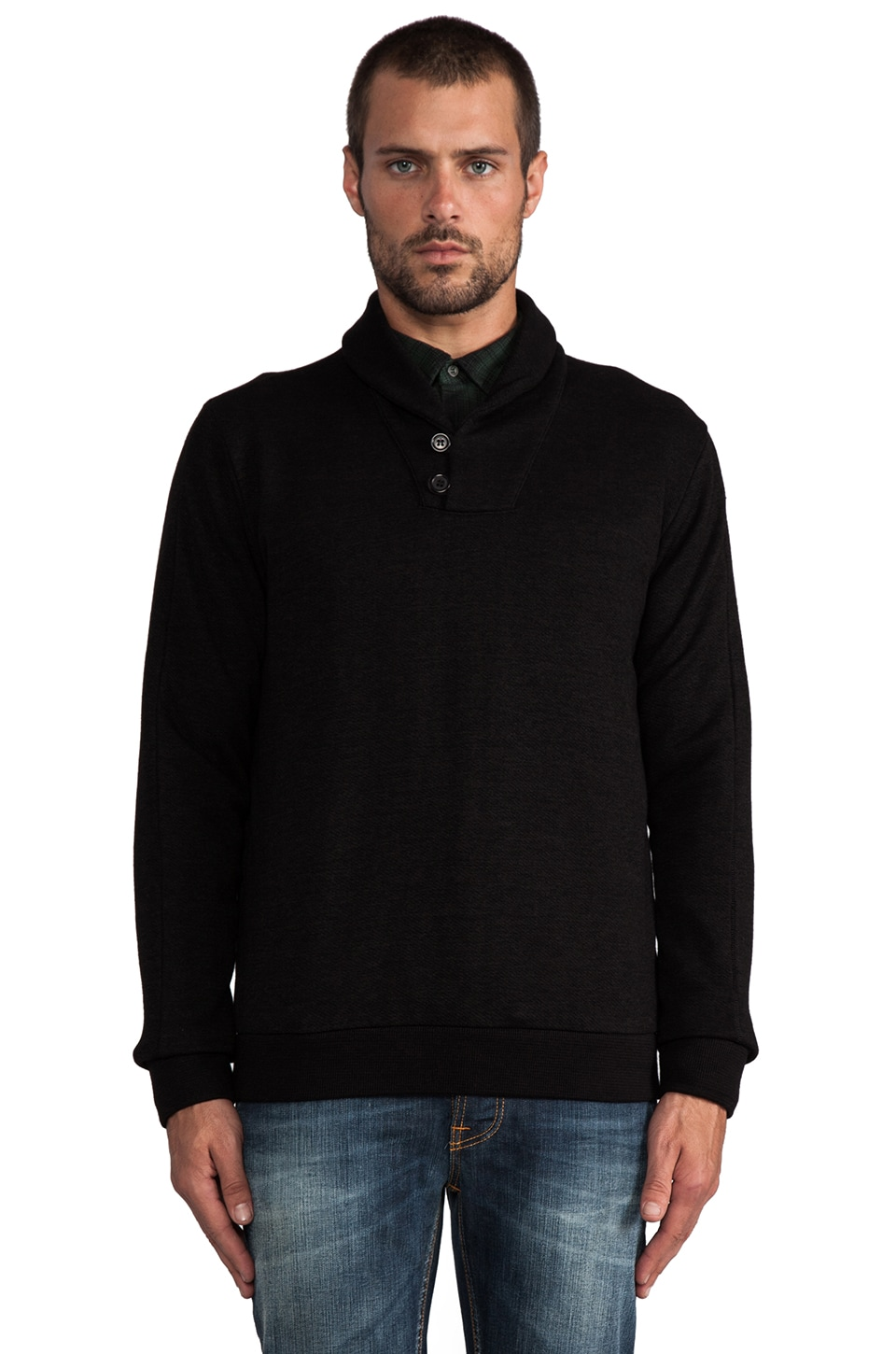 Velvet by Graham & Spencer Hermes French Terry Pullover in Black