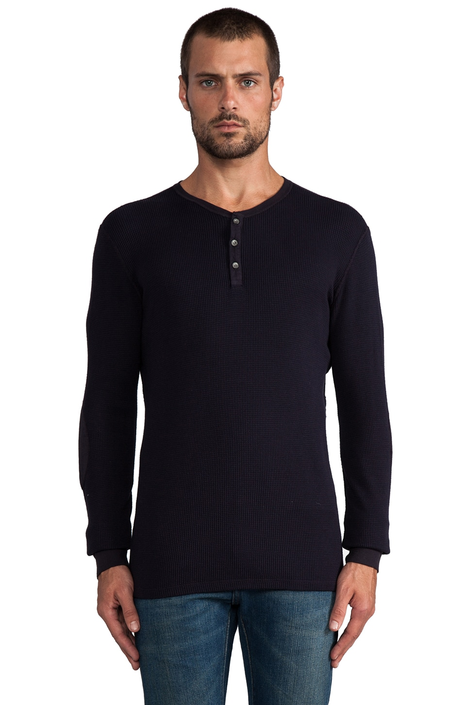 Velvet by Graham & Spencer Thor Thermal Henley in Caspian