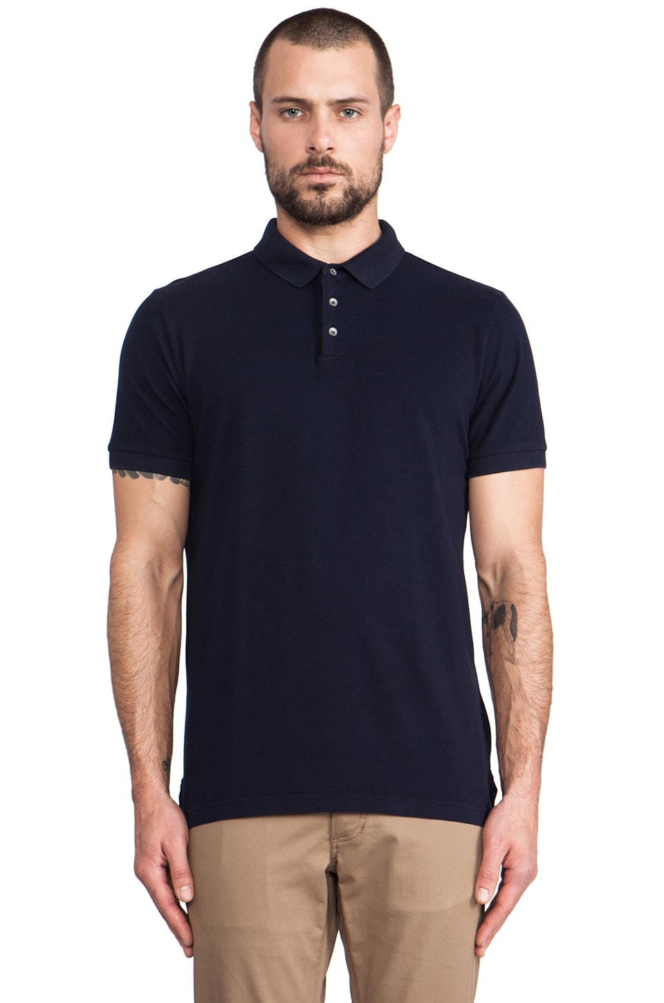 Velvet by Graham & Spencer Walter Polo in Midnight
