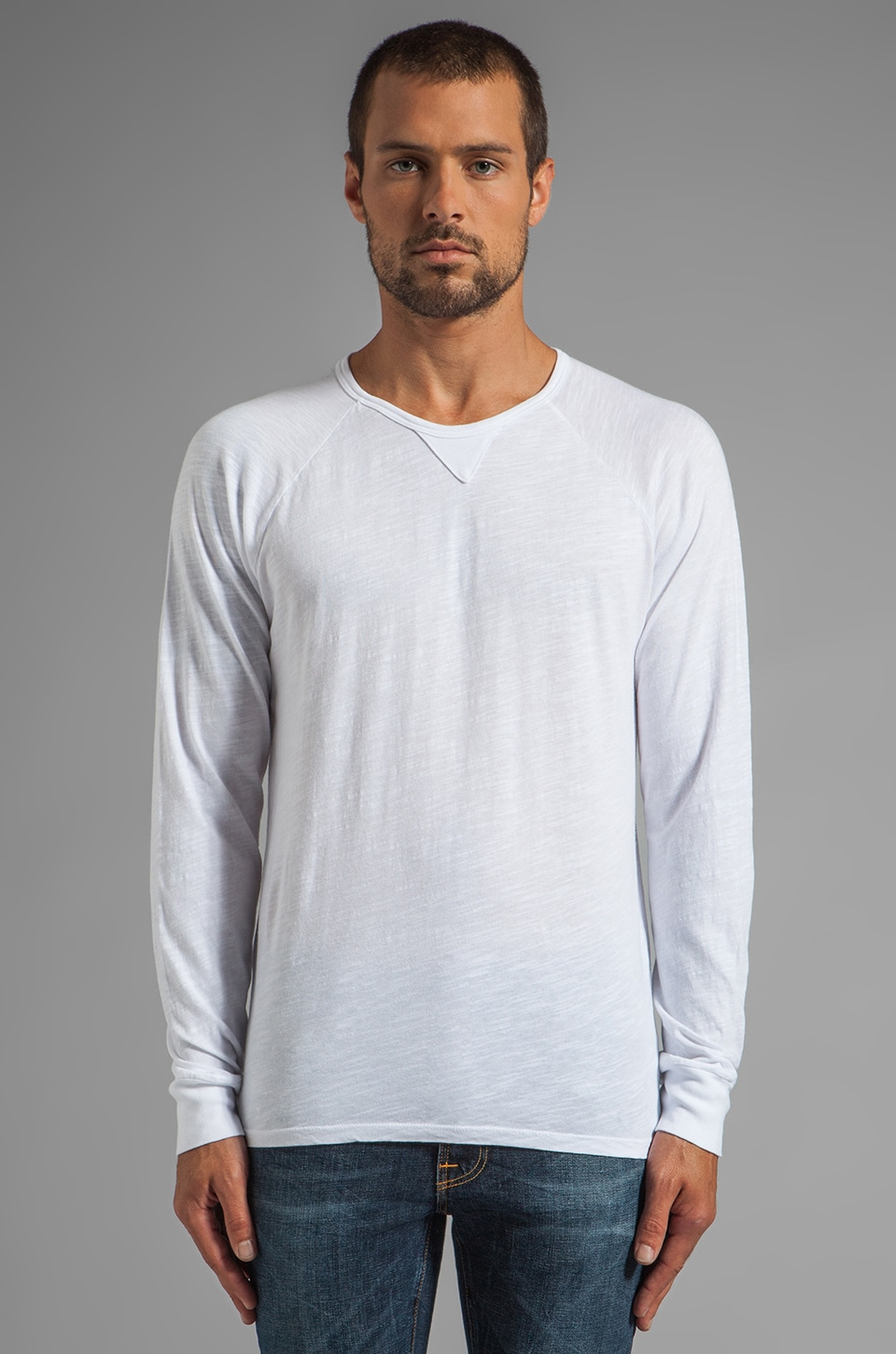 Velvet by Graham & Spencer Owen L/S Tee in White