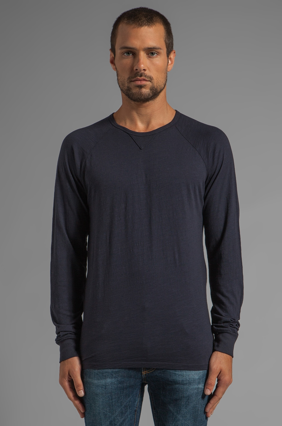 Velvet by Graham & Spencer Owen L/S Tee in Caspian