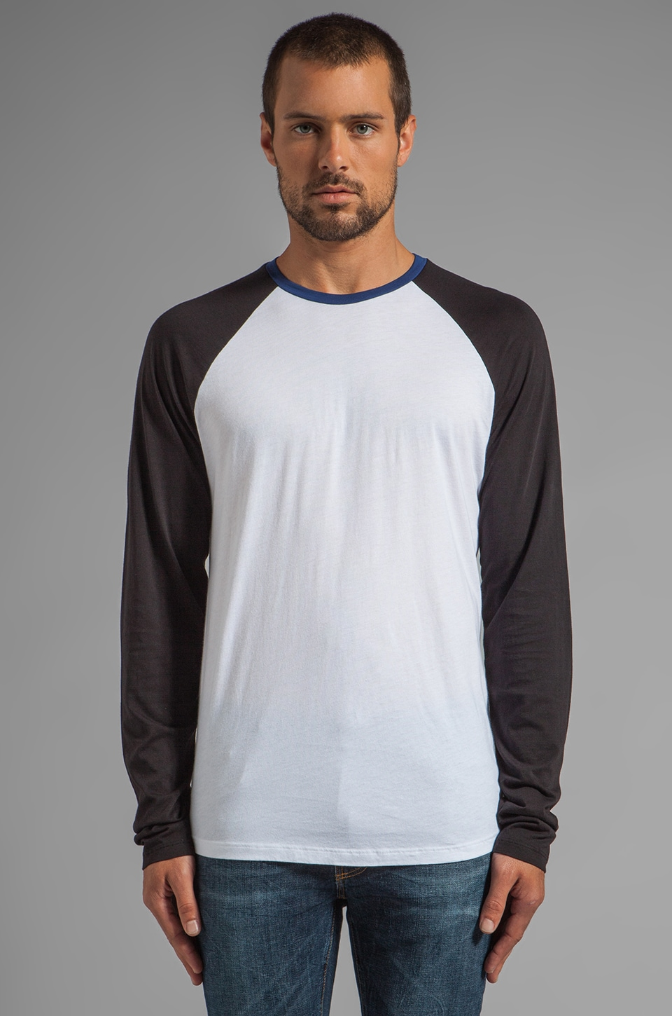 Velvet by Graham & Spencer Phillipe Color Block Tee in Adriatic
