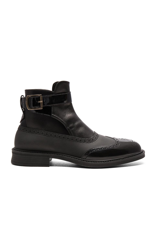 559d00b652c Vivienne Westwood Man Vivienne Westwood Jodhpur Brogue Boot in Black & Black