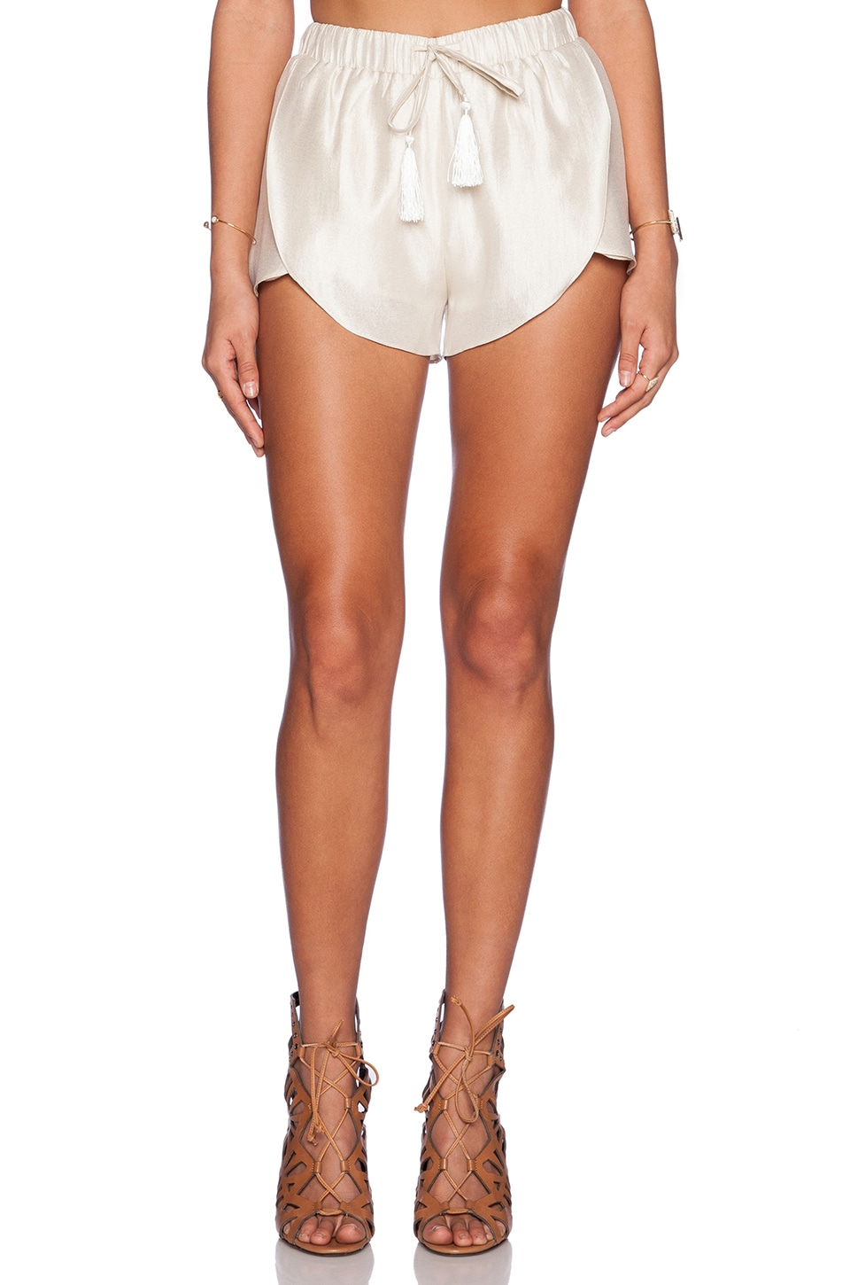 The Allflower Creative Expedition Shorts in Cream