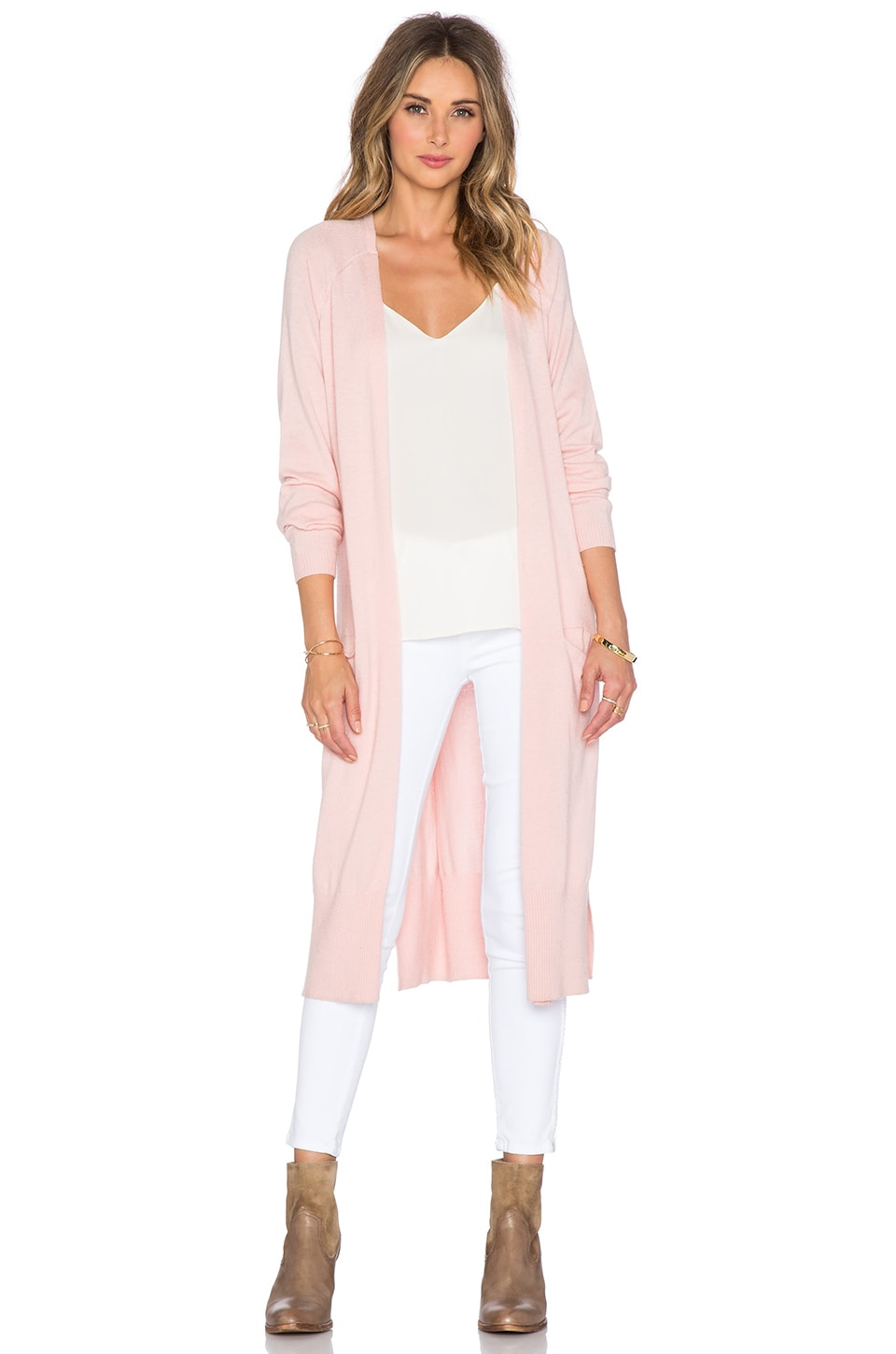 The Allflower Creative Mellow Knit Cardigan in Candy