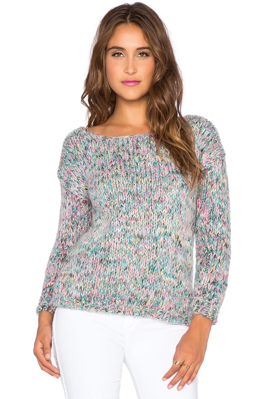 The Allflower Creative Confetti Sweater in Lilac & White