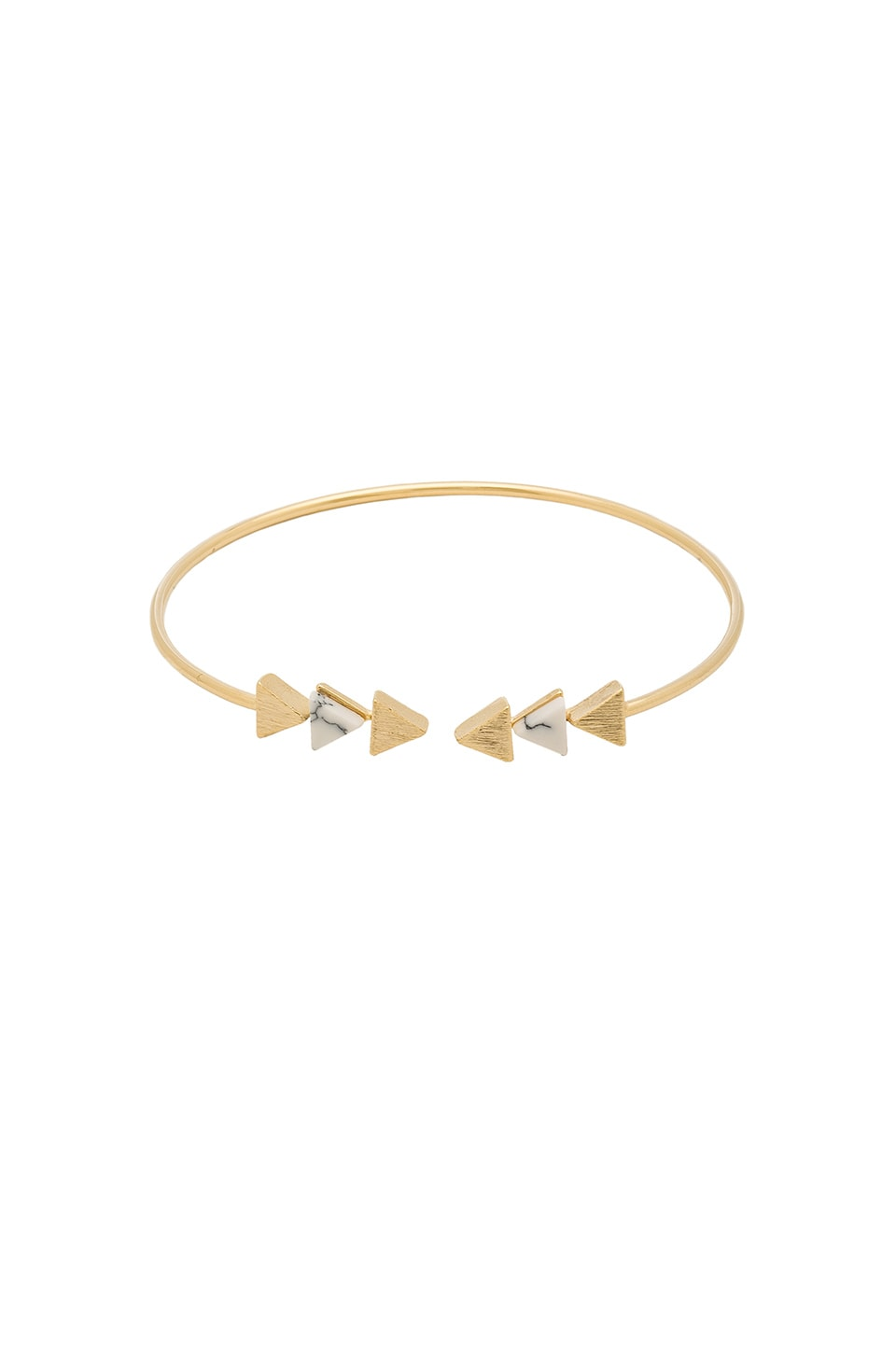 Wanderlust + Co Multi Tri Cuff in Gold