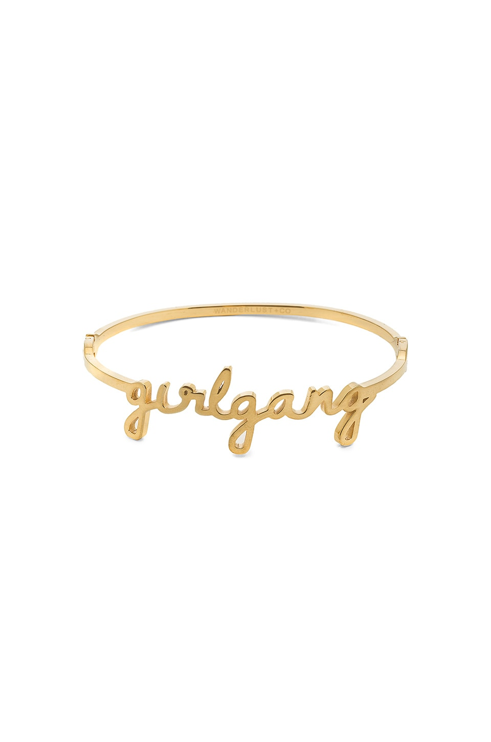 Wanderlust + Co Girl Gang Bangle in Gold