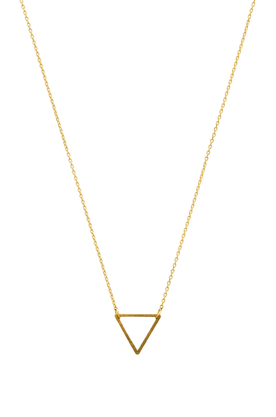 Wanderlust + Co Frame Triangle Necklace in Gold