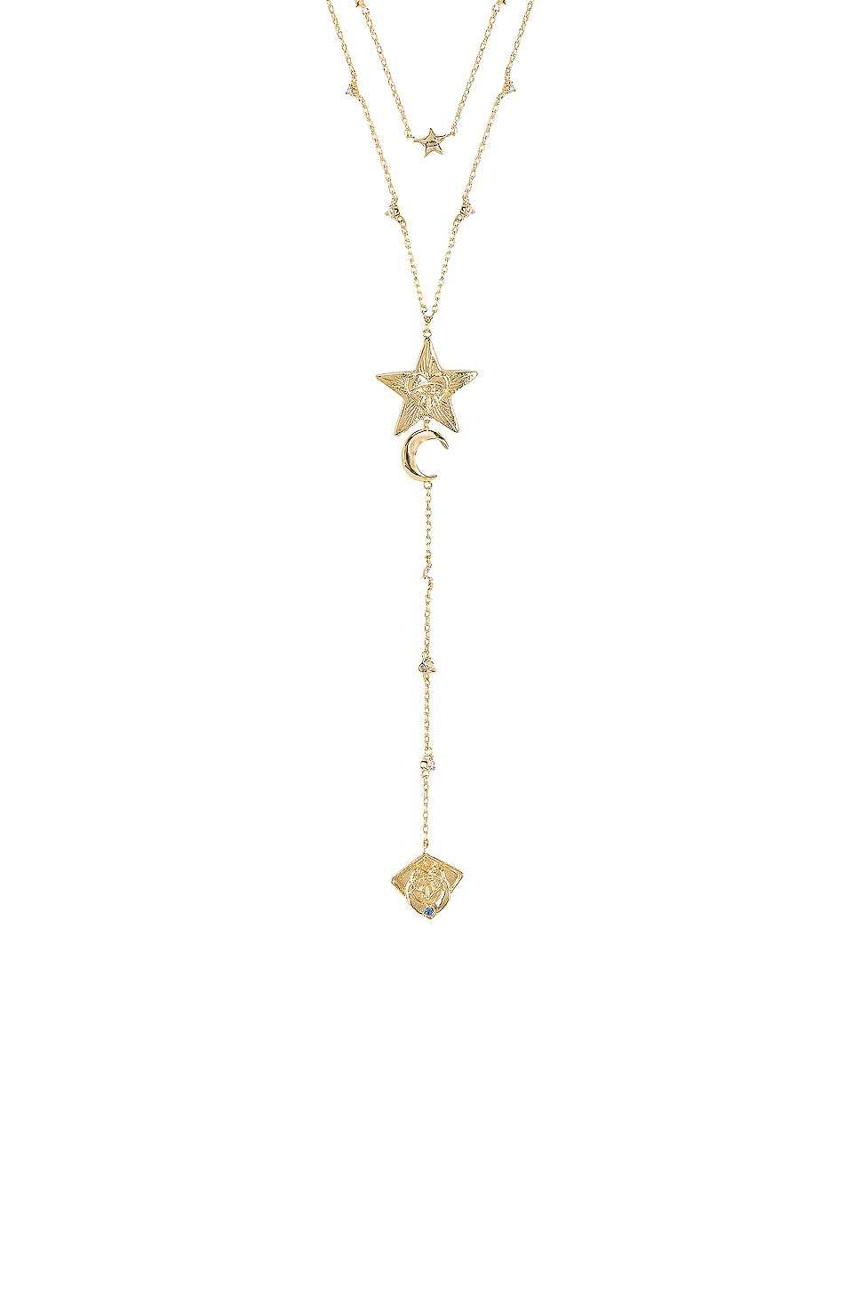 Wanderlust + Co Stella Layered Necklace in Gold