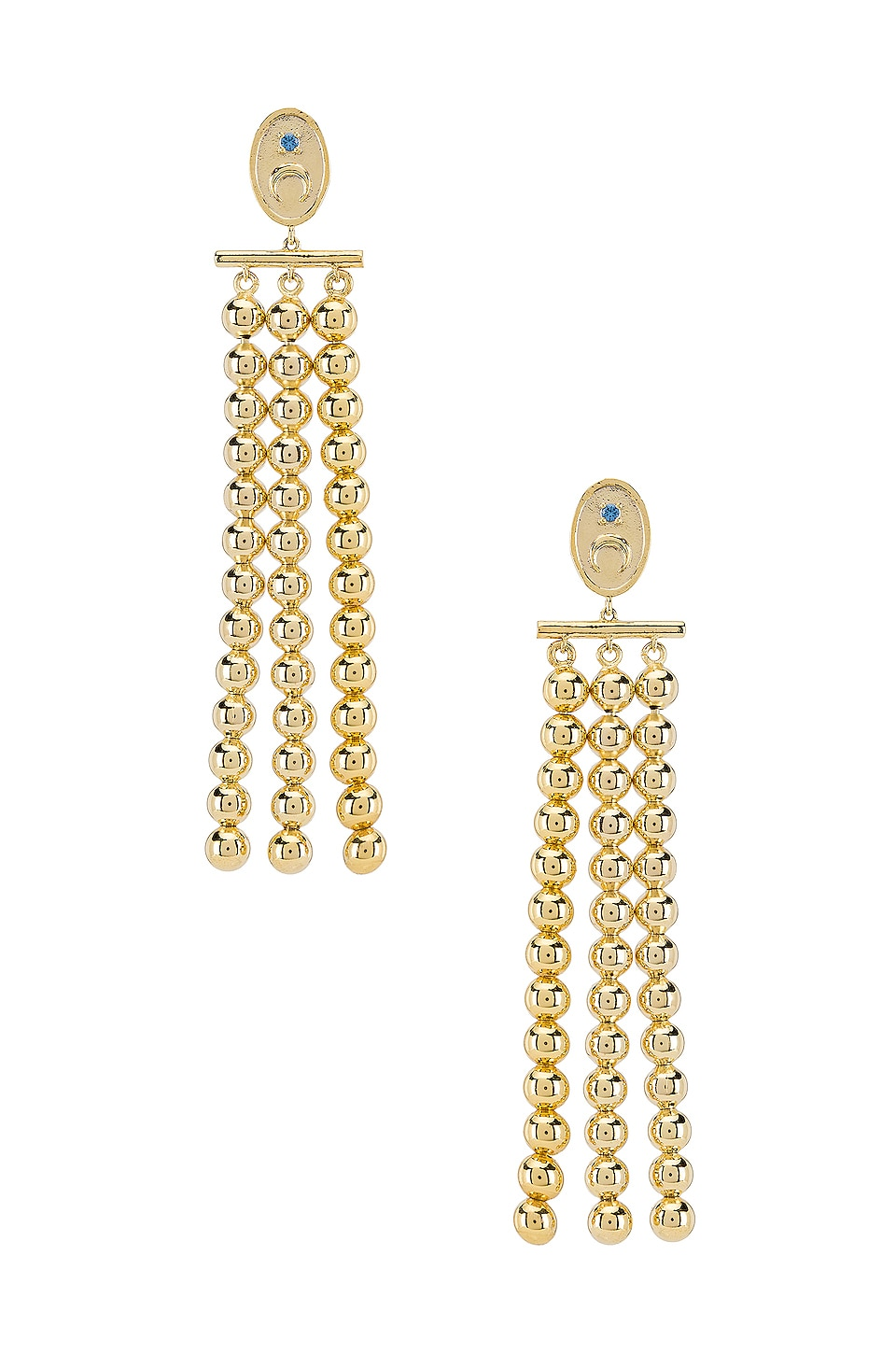 Wanderlust + Co Luna Drop Earrings in Gold