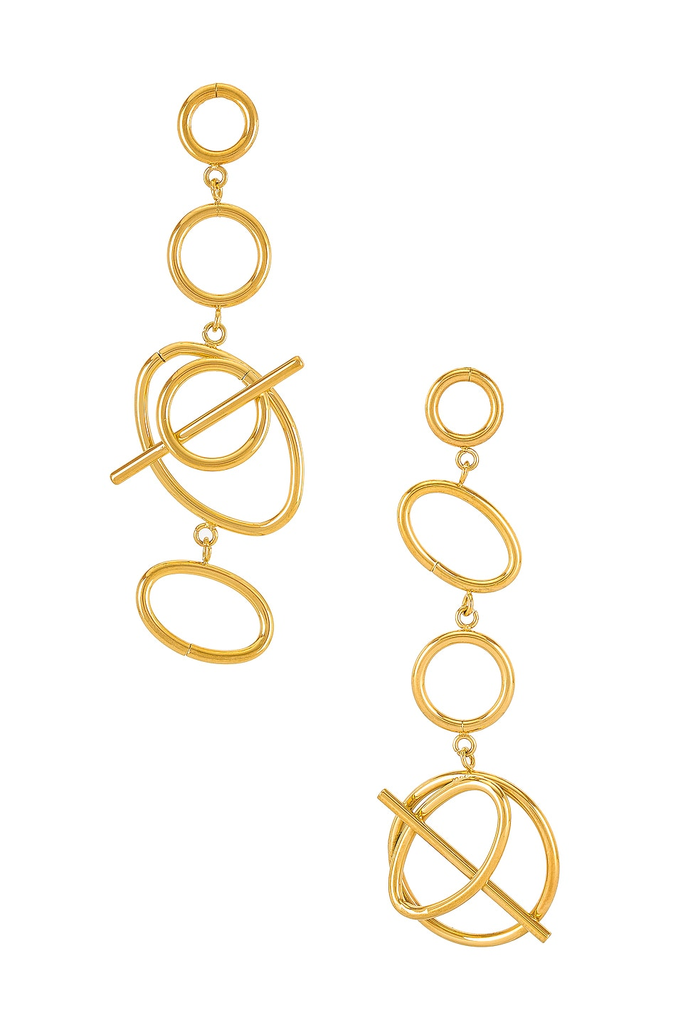 Wanderlust + Co Multi Helix Earrings in Gold