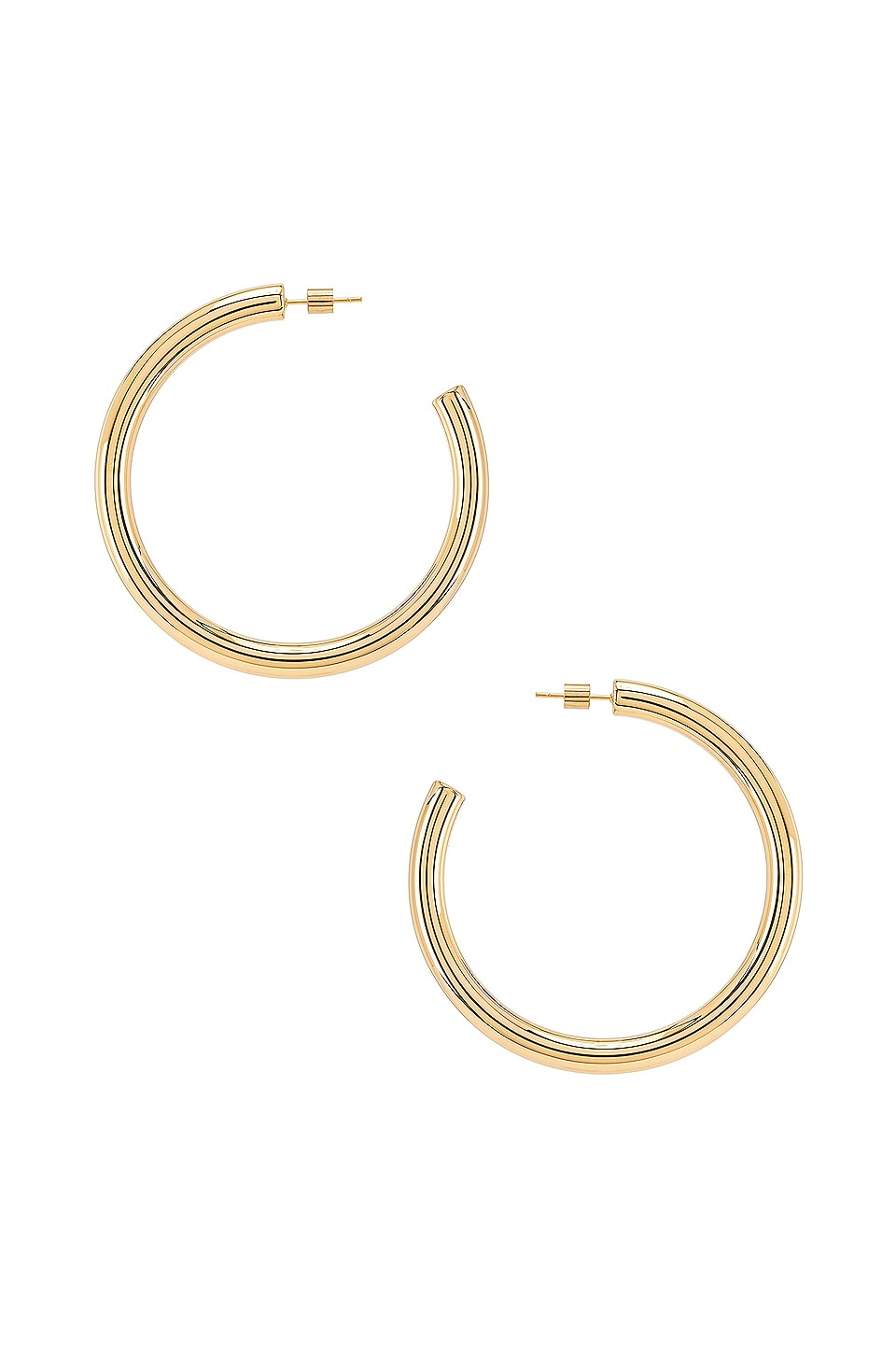 Wanderlust + Co Faye XL Hoop Earrings in Gold