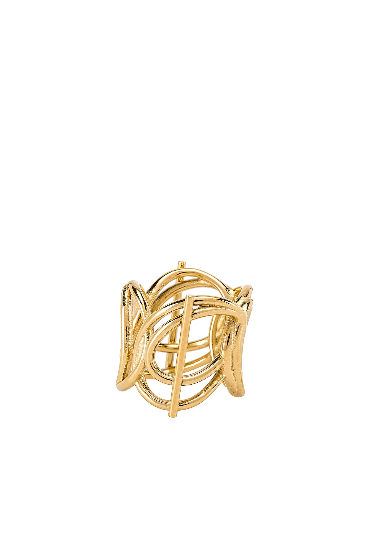 Wanderlust + Co Multi Helix Ring in Gold