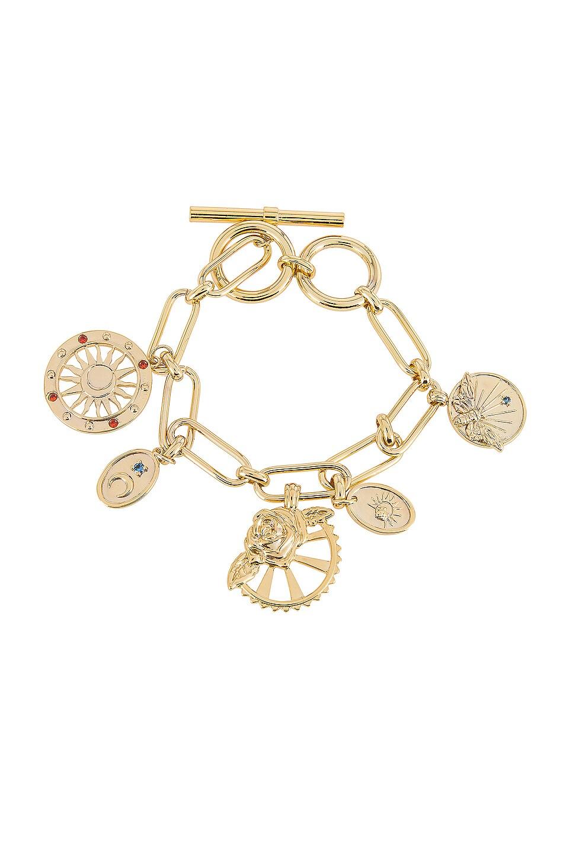 Wanderlust + Co Reverie Toggle Bracelet in Gold