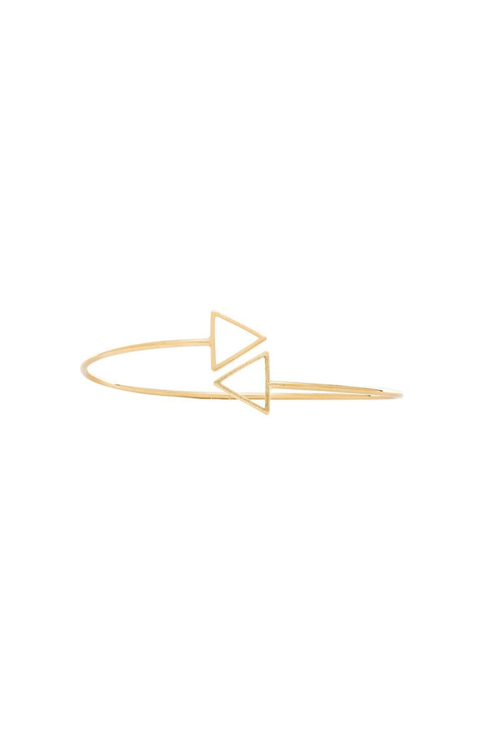 Wanderlust + Co Double Arrow Cuff in Gold
