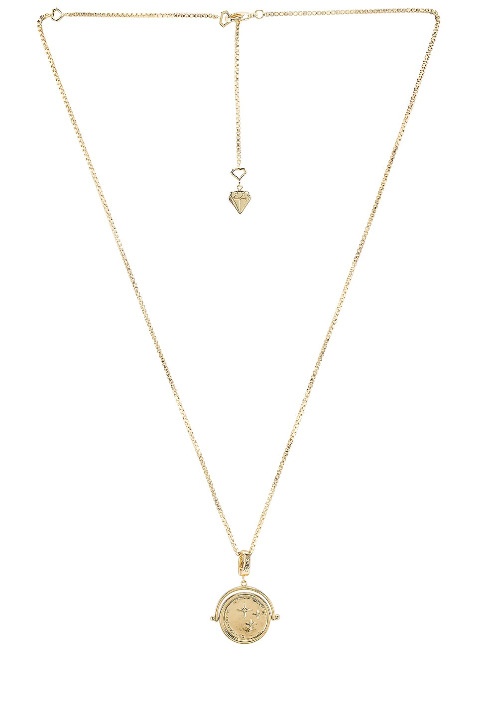 Wanderlust + Co Classic Wanderlust Charm Necklace in Gold