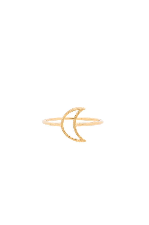 Wanderlust + Co Frame Crescent Ring in Gold