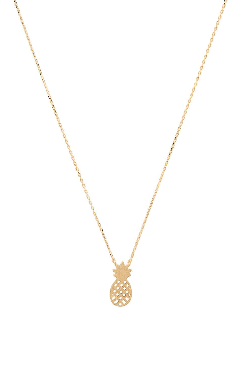 Wanderlust + Co Pineapple Necklace in Gold