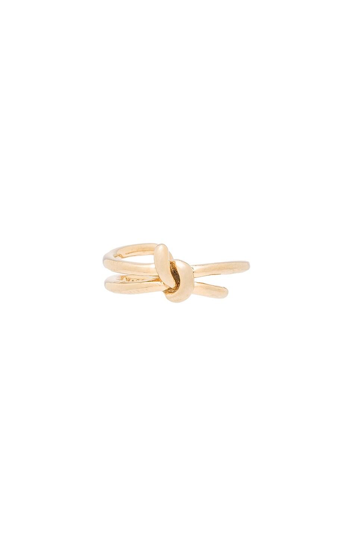 Wanderlust Co Knot Ring In Gold Revolve