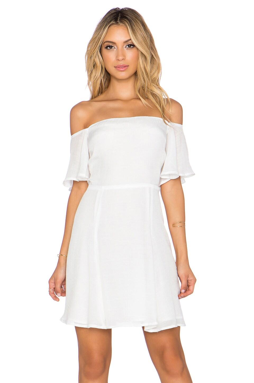 WAYF Off Shoulder Dress in Ivory
