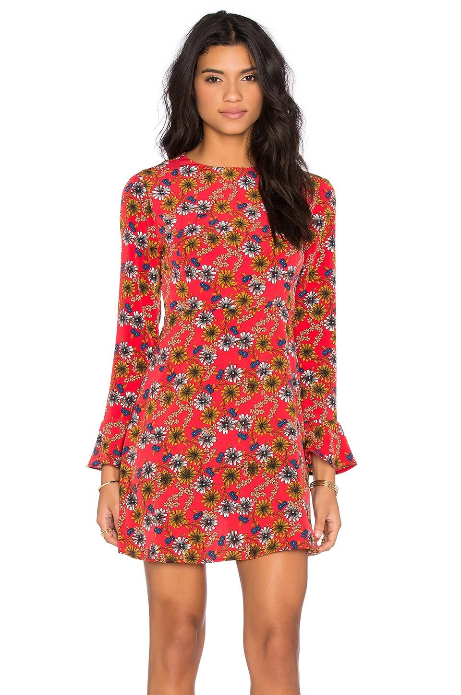 WAYF Tie Back Dress in Daisy Floral
