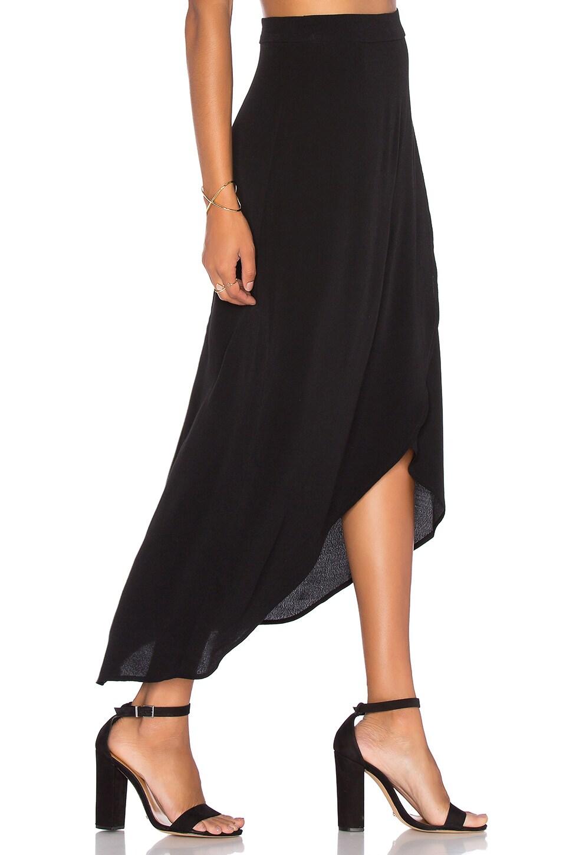 WAYF Veda Wrap Skirt in Black
